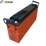 Bateria recarregável terminal dianteira 12V100ah do gel para telecomunicações