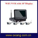 4 der Kanal IP-Kamera-NVR WiFi voller HD Bildschirm NVR Installationssatz WiFi der Kamera-