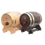 Barril de vino Finished antiguo de madera de roble 3L