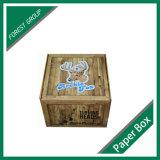 木製の質の印刷を用いるカスタム波形の包装ボックス