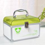 Портативные бытовые металлические медицины контейнер для хранения с безопасной блокировки R8325