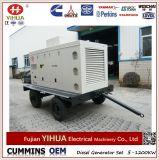 Generatore diesel silenzioso portatile mobile del rimorchio 150kVA/120kw Cummins
