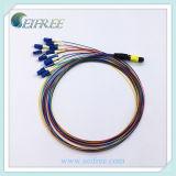 Cable óptico de la cuerda de corrección de fibra de MPO MTP