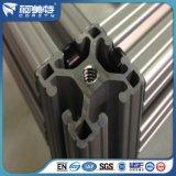 Perfil redondo de aluminio industrial con color negro