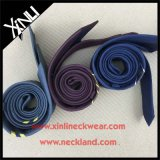 100% hecho a mano para hombre flaco personalizada Jacquard Tejido de lino corbata