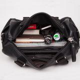 Bolsa de ombro de bolso de bagagem de viagem de couro genuíno de luxo para homens