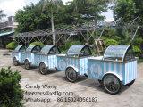 Chariots de Gelato de la crême B4 glacée/chariot étalage de Popsicle à vendre (CE reconnu)