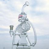 Tubulação de água de fumo nova do vidro de Borosilicate da taça da venda por atacado do projeto