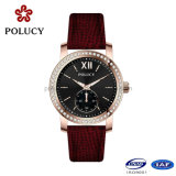 Factory OEM Black Color Wrist Watch para mulheres
