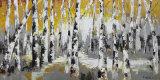 Pittura a olio di paesaggio dell'albero su tela di canapa