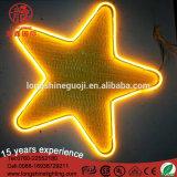 LED 별 6W PVC 주제 휴일 훈장을%s 세륨 RoHS를 가진 네온 코드 빛 램프