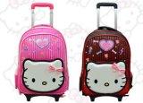 Bookbags für die Kinder, die Rucksäcke für Mädchen-Rucksack auf Rädern rollen