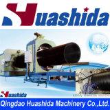 Extrudeuse en plastique spiralée de canalisation d'eaux usées de machine de pipe de HDPE