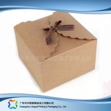 Het leuke Vakje van de Gift van de Juwelen van het Document van Kraftpapier Verpakkende met Toebehoren (xc-pbn-025c)