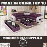 Cuir sectionnel L sofa de première vente de coin de forme
