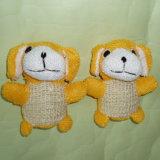 La promoción de los animales de Conejo de Sisal de esponja de baño bañeras de bebés juguete