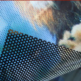 Perforated Vinyl Sticker One Way Vision for Outdoor/Indoor Glass Decorative