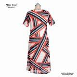 Miss You Ailinna 802030-1 mujer vestido de algodón de patrón de impresión