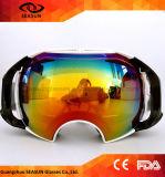 Occhiali di protezione antinebbia dello Snowboard della neve degli occhiali di protezione di sport di inverno delle donne degli uomini di vetro di corsa con gli sci della mascherina di pattino UV400 degli occhiali di protezione del pattino di marca doppi grandi