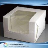 Rectángulo de empaquetado plegable del papel para la torta del caramelo de chocolate del alimento (xc-fbk-008)