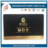 Cartão plástico da impressão luxuosa do fabricante de China com diamante