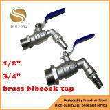 """1/2 """"3/4"""" Bsp Thread One Way Flow Water Brass Bibcock Valve"""