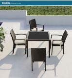1 mobilia esterna pieghevole della sala da pranzo del rattan del PE della mobilia di Seater della tabella 8 (Z570)