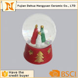 Resina Christmas Tree Glass Snow Globe para o Natal