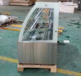 구부려진 유리 (KI760A-S2)를 가진 케이크 냉장고 또는 생과자 냉장고