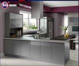 カウンタートップの石との現代小型小さいフラットパックの食器棚デザイン
