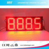 屋外の赤いカラーガス代LEDの印
