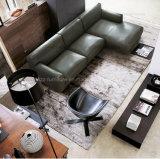 Sofà di legno moderno del cuoio di svago delle forniture di ufficio