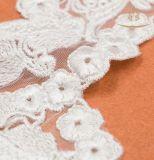 Churidarのレースの織物のための刺繍の首デザインカラーレース