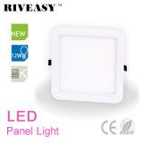 panneau acrylique carré d'éclairage LED du coin 12W rond avec la lampe de panneau de Ce&RoHS DEL
