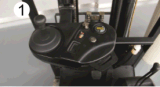 Carrello elevatore elettrico delle alte di costo di prestazione Rotelle del motore a corrente alternata 1t tre