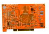carte de la carte à circuit 8L de 1.3mm pour le contrôle d'industrie avec le doigt d'or