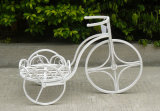 Basamento antico della piantatrice della bicicletta dei POT di bianco 2 di Vatinge