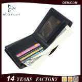 Изготовленный на заказ бумажник портмона Flapover просто конструкции логоса кожаный