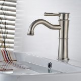 Torneira de lavatório Ceramic Plate Spool Deck Stainless Steel