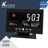 Relógio colorido da estação meteorológica de LED com sensor de temperatura