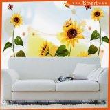 Behang van de Muurschildering van het Behang van de zonnebloem het Waterdichte Vinyl voor het Olieverfschilderij van het Huis