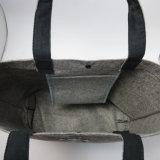Qualitäts-Grau-Filztote-Schulter-Beutel Jrf-925 kundenspezifisch anfertigen