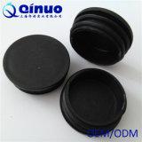 Chaise de plastique rond noir personnalisée couvre les pieds avec une haute qualité