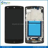 Tela de toque do indicador do LCD do telefone de pilha com frame para o nexo do LG 5 D820
