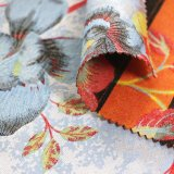 Сплетенный полиэфир краски пряжи шерстей 2017 овечки новый для госпожи Обхода Пальто Жаккарда Ткани