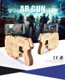 Bluetooth Ar는 셀룰라 전화 3D Ar 전자총 게임 나무로 되는 장난감 전자총을%s 싹 게임 관제사를 총으로 쏜다