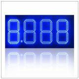 """16"""" a prueba de agua al aire libre 8 pulgadas 7 Segmento Gas Station llevaron el precio de los signos de las estaciones de gasolina Junta en Venta"""