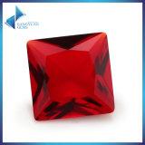 Steen van het Glas van de Granaat van de Besnoeiing van de Scherpe Machine van de Steen van het glas de Vierkante Rode