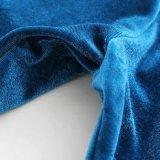 方法女性のPleucheの優雅のV首のBowknotの包帯はブラウスに着せる