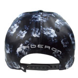 カスタム黒PUの3D刺繍のロゴの革帽子の急な回復の帽子